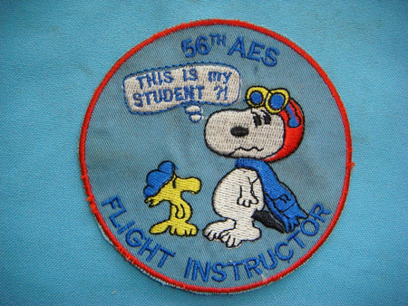 Snoopy USAF 56th Aeromedical Evacuation Squadron Flight Instructor Patch -  RARE , Patch, Art + Object, Working Title