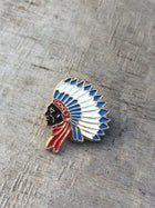 Enamel Indian Chief Pin , Pins, Art + Object, Working Title