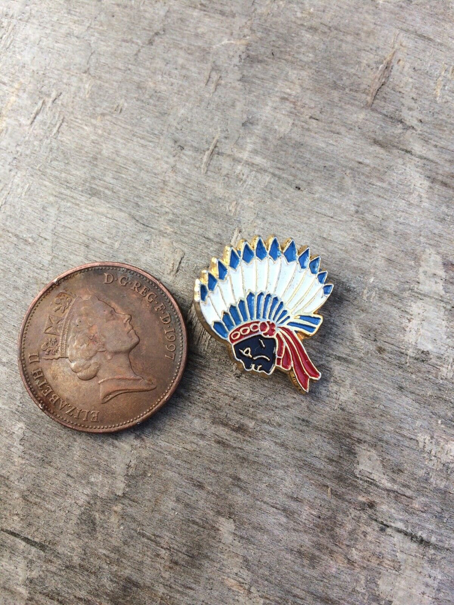 Enamel Indian Chief Pin