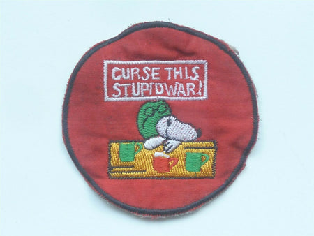 Snoopy Genuine USA War Patch - Curse This Stupid War!