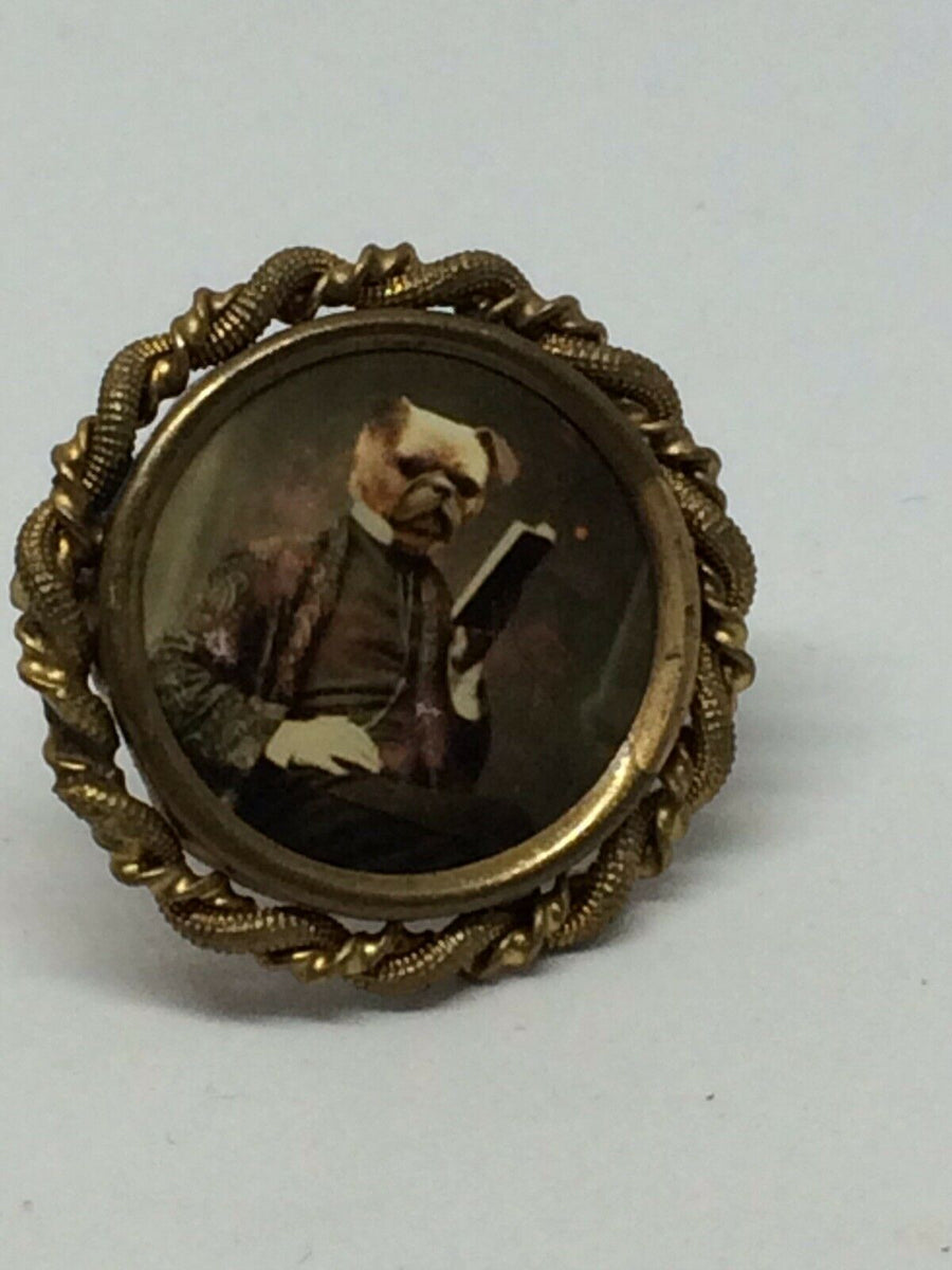 Victorian Style Dog Portrait Brooch/Pin , Pins, Art + Object, Working Title