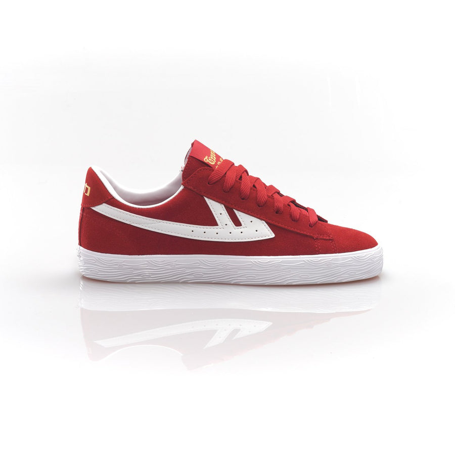 Warrior Shanghai Dime Suede Basketball Shoe - Red
