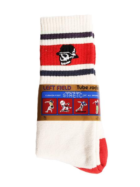 Left Field NYC Skull Tube Socks - Red/White/Blue , Socks, Left Field NYC, Working Title