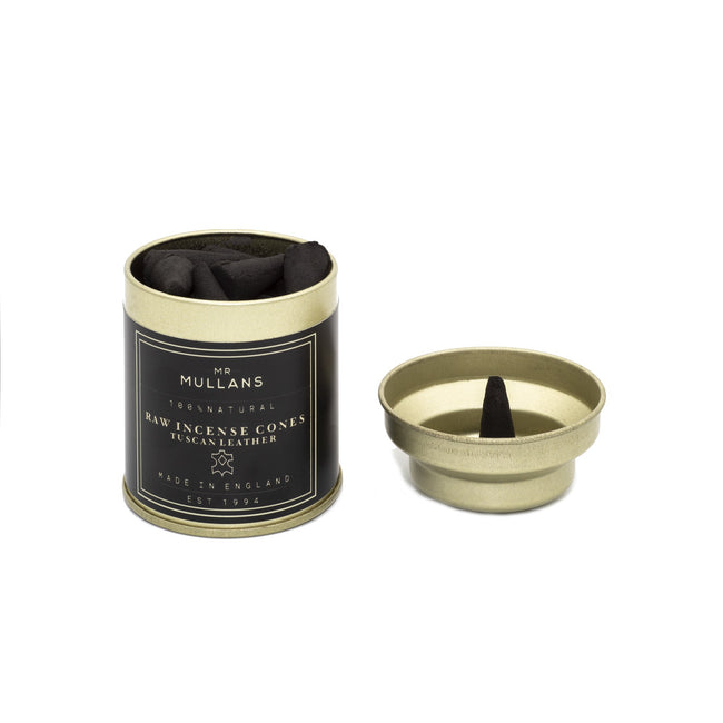 Mr Mullans Incense Cones - Tuscan Leather