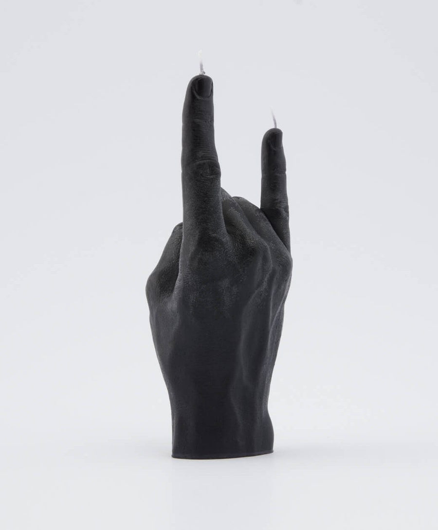 Candle Hand Black 'You Rock' Candle , Candles, Candle Hand, Working Title