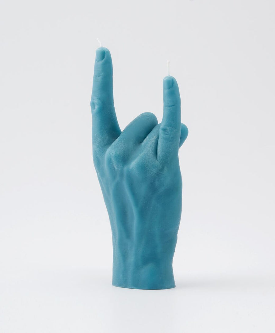 Candle Hand You Rock Blue Hand Gesture candle , Candles, Candle Hand, Working Title