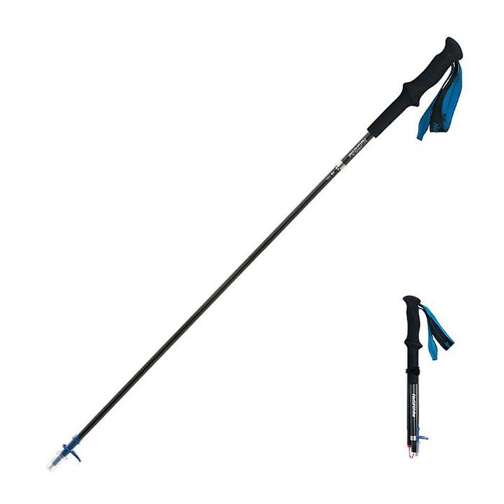 Naturehike ST08 4-Node Mountaineering Sticks Ultralight Folding Carbon Fiber Trekking Pole (Blue)
