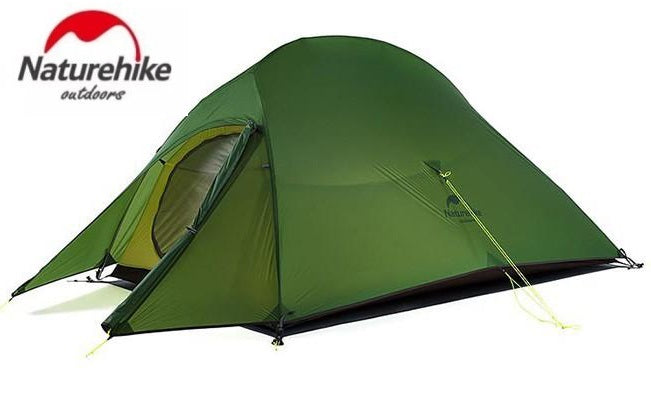 Naturehike Cloud Up 2 20D Nylon Aluminum Pole Lightweight Tent with Mat (Hunter Green)