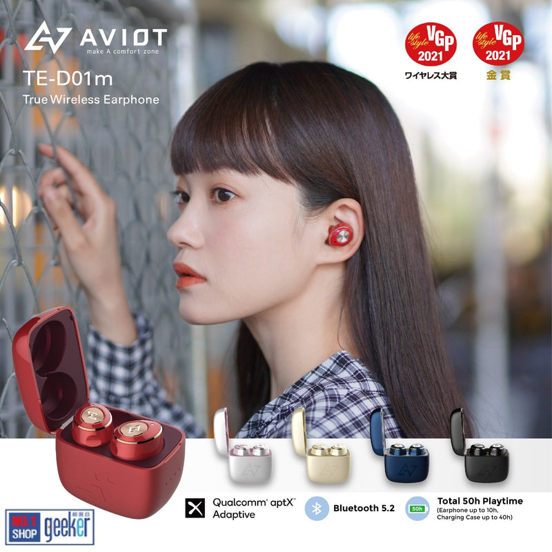 Aviot TE-D01M Wireless Earbuds Bluetooth Earphones