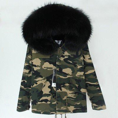 Black Camo Adult Parka