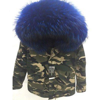 Blue Camo Adult Parka