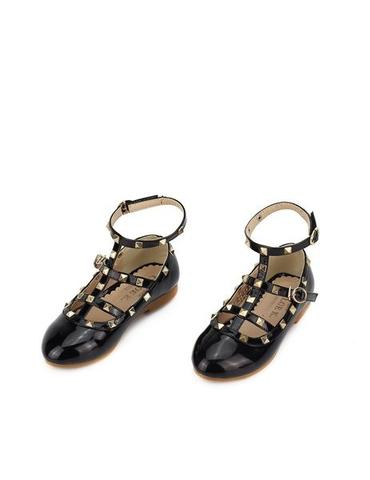 CWS - Black Camilla Rock Stud Shoes - childwithstyle