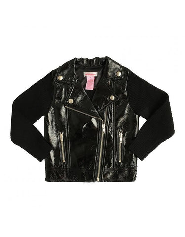 Design History - Design History Pleather Moto Jacket - childwithstyle