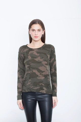 Generation Love Abigail Cashmere Army Green Sweater