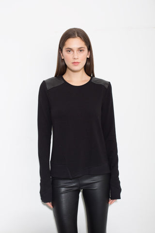 Generation Love - Generation Love Estella Leather Sweater - childwithstyle