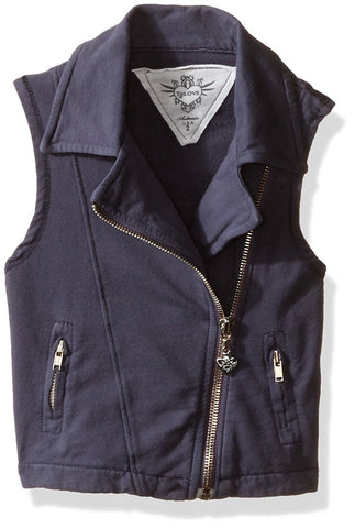 T2Love - T2Love Little Girls' Motorcycle Zip Vest - childwithstyle