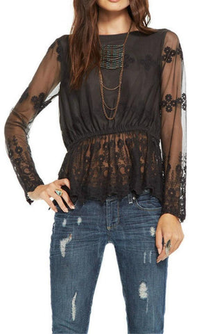 Chaser Lace Peplum Top