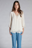 Falcon & Bloom - Falcon & Bloom Anjelica Lace 3/4 Sleeve Top - childwithstyle