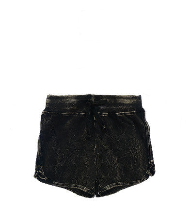 T2 Love Black Vintage Wash Shorts