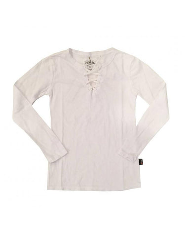 T2Love - T2Love White Lace Front Tee - childwithstyle