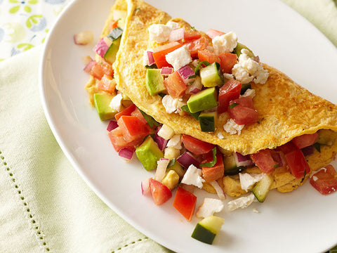 Omelette with vegetable sauce