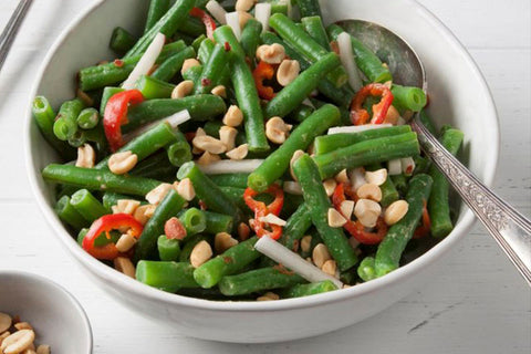 Ginger bean salad and peanuts