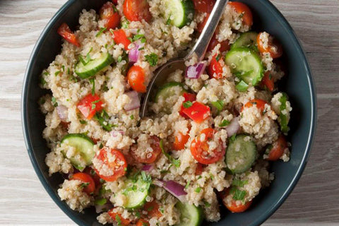 Vegan salad with quinoa