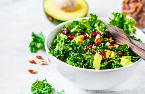 Vegan salad with kale