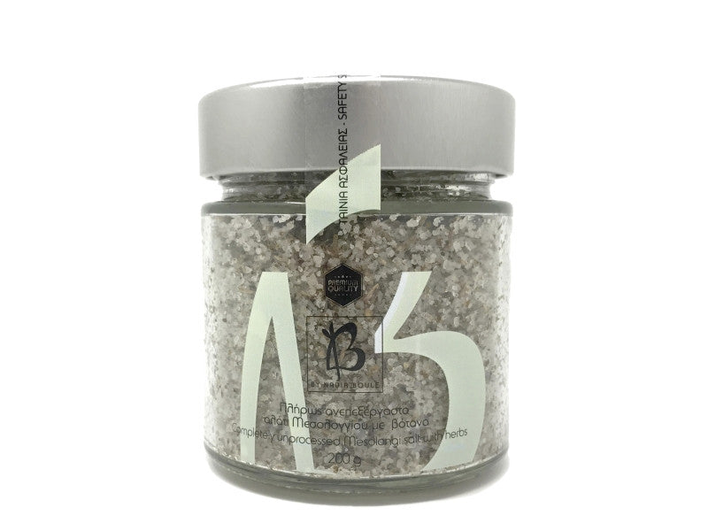 COMPLETELY UNPROCESSED MESOLONGI SALT WITH HERBS