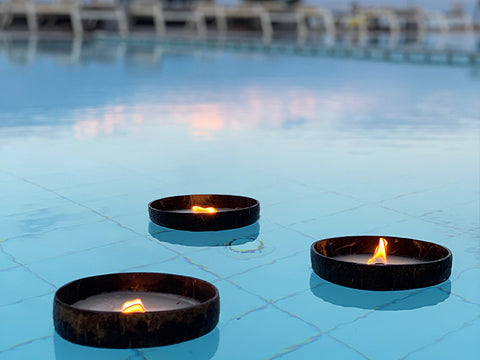 COCONUT CANDLES - FLOATING