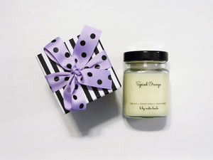GIFT BOX - PURE SOY PREMIUM CANDLE, SPICED ORANGE.