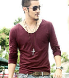 Long Sleeves Men Casual T-Shirt - My Home Shopping Network