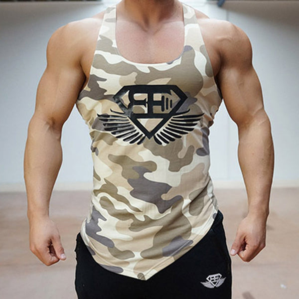 Fitness Men Army  Gym Tank Top - My Home Shopping Network