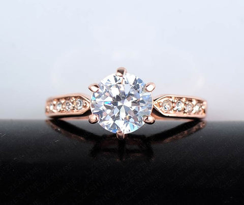 clear Zircon Princess Wedding Rings - My Home Shopping Network