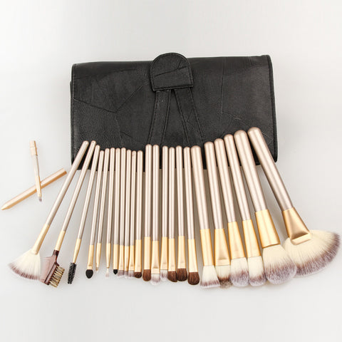 12/18/24 pcs Makeup Brushes Set with Leather Case