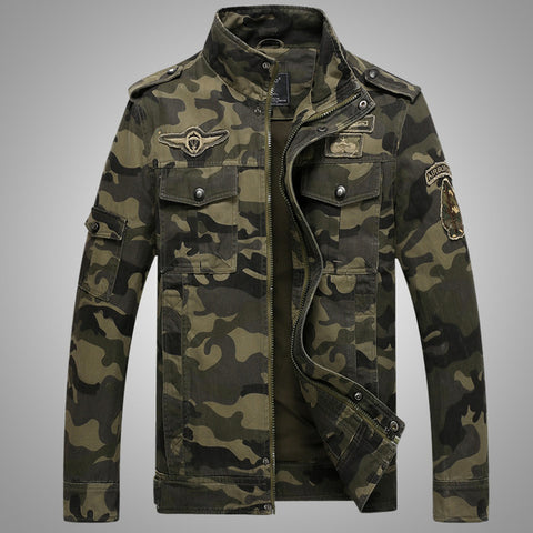 Army Military Men Casual Fashion Bomber Jackets Jacket - My Home Shopping Network