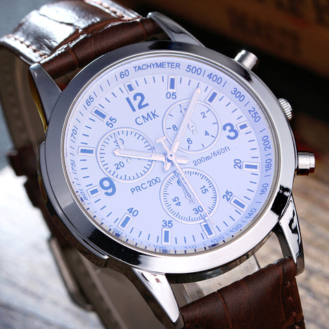 High quality men leather watches Casual fashion watch - My Home Shopping Network