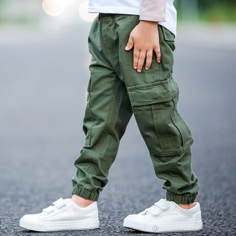 children boy cargo pants spring and autumn - My Home Shopping Network