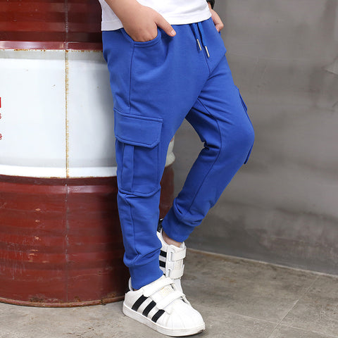 Boys Pants Casual Sports Spring&autumn Cotton Children Teens Trousers - My Home Shopping Network