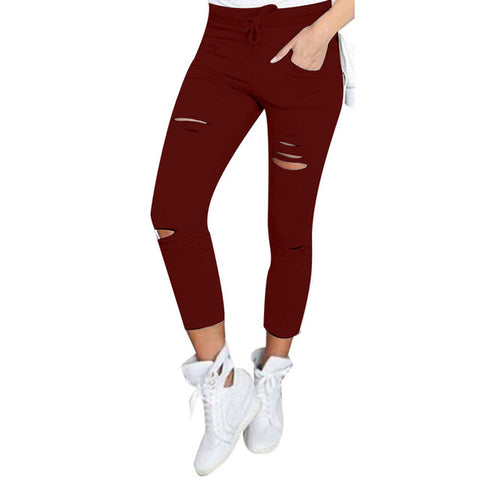 High Waist Pencil Pants Women Cotton Skinny Pants Leggings Trousers