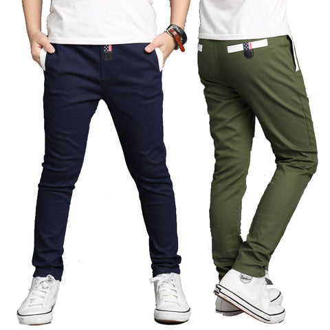 Boys Pants Solid Trousers for Children Straight Pants For Spring - My Home Shopping Network