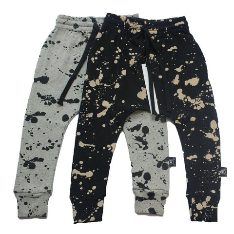 Children Cotton Trousers Pants Splash/Brush Stroke/Half&Half Baggy Pants For Boys - My Home Shopping Network