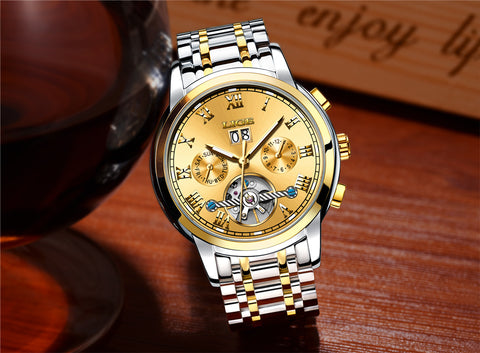 Mens Watches Automatic Watch Men Full Steel Business Waterproof Sport Watches