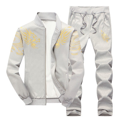 Men Sporting Suit Hoodie Sweatshirt Male Two Pieces Set