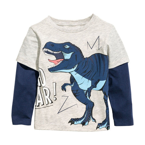 long sleeve kids clothes child spring cotton boy's t shirt