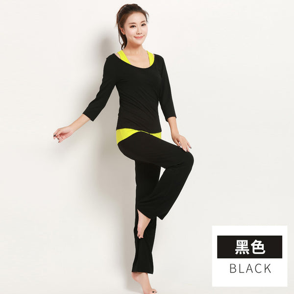 yoga jogging suits for women modal health comfortable Hyperelastic colorfast sportswear - My Home Shopping Network