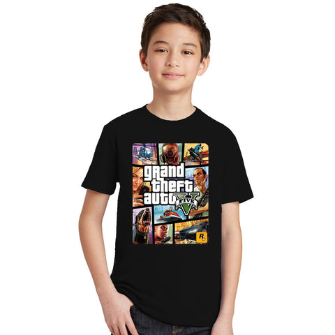 Boys T Shirt 1 gta T-Shirt gta Street Fight - My Home Shopping Network