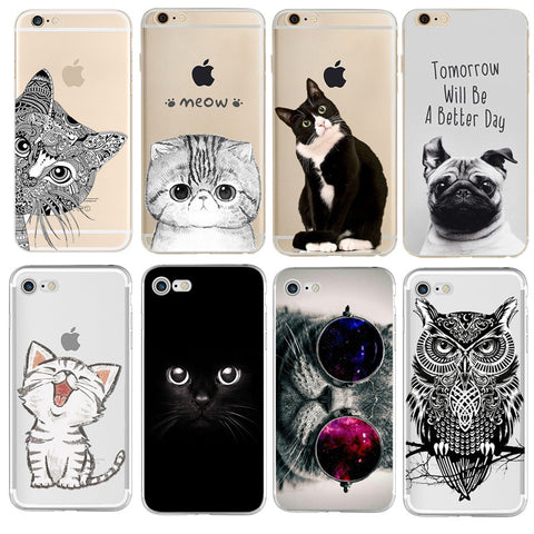 Case For iPhone Soft TPU Silicon Cover Cat Phone case - My Home Shopping Network