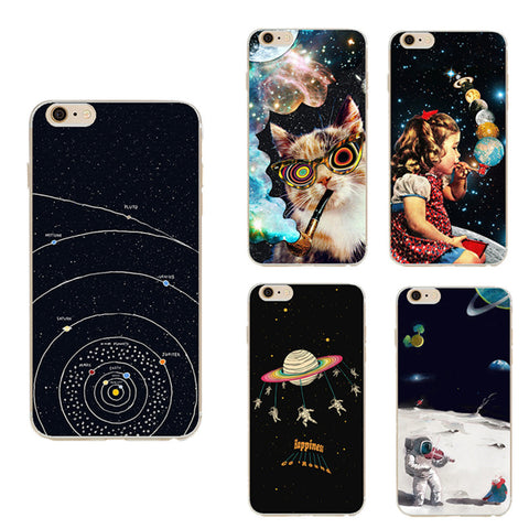 Airship Astronaut Stars For iPhone & Samsung Galaxy Case