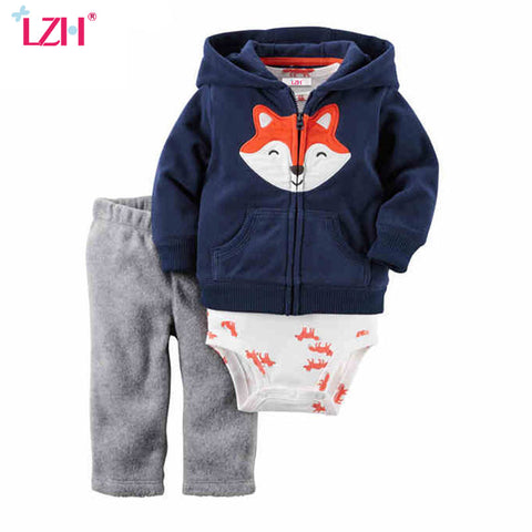 Buy Baby Boys Clothes Set Long Sleeve Coat+Bodysuit+Pants